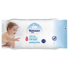 NATUSAN® Mild care hand and face wipes